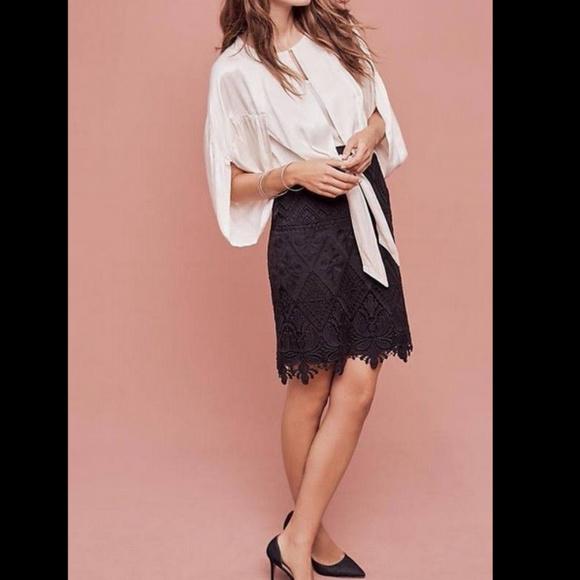 Anthropologie Dresses & Skirts - Anthropologie Moulinette Soeurs Lace Pencil Skirt